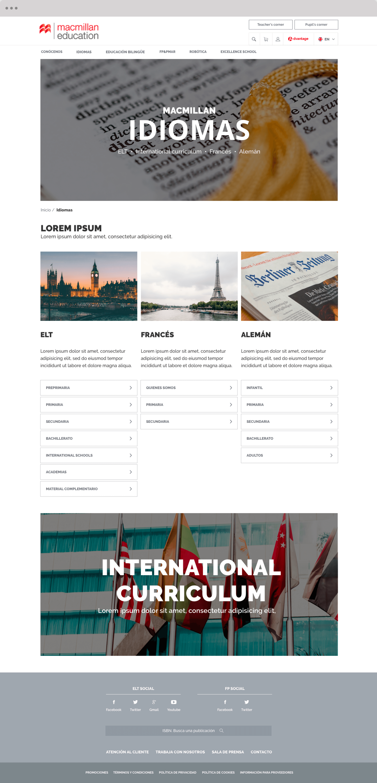 Macmillan Spanish Website Screenshot 2