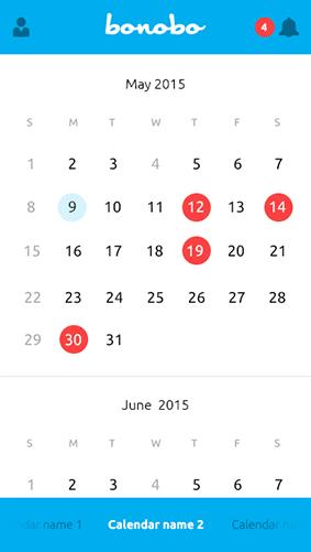 Bonobo Admin Calendario