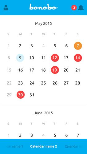 Bonobo Usuario Calendario
