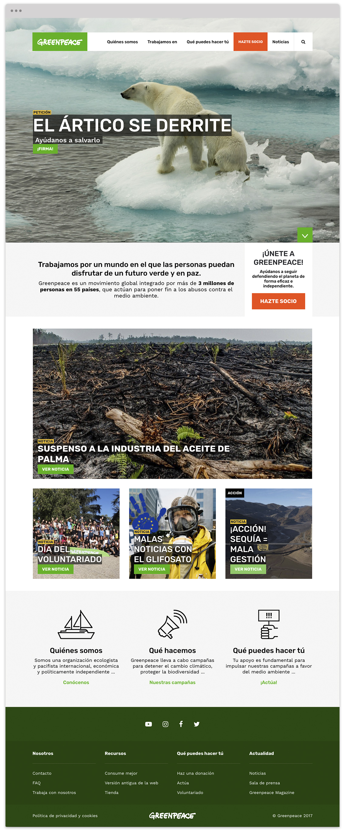 Greenpeace Spain website  Screenshot 1