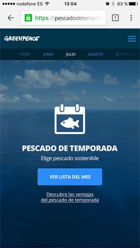 Greenpeace Pescado Temporada